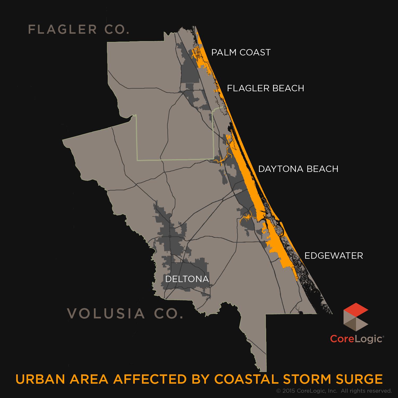 Storm Surge Maps - Florida map daytona area