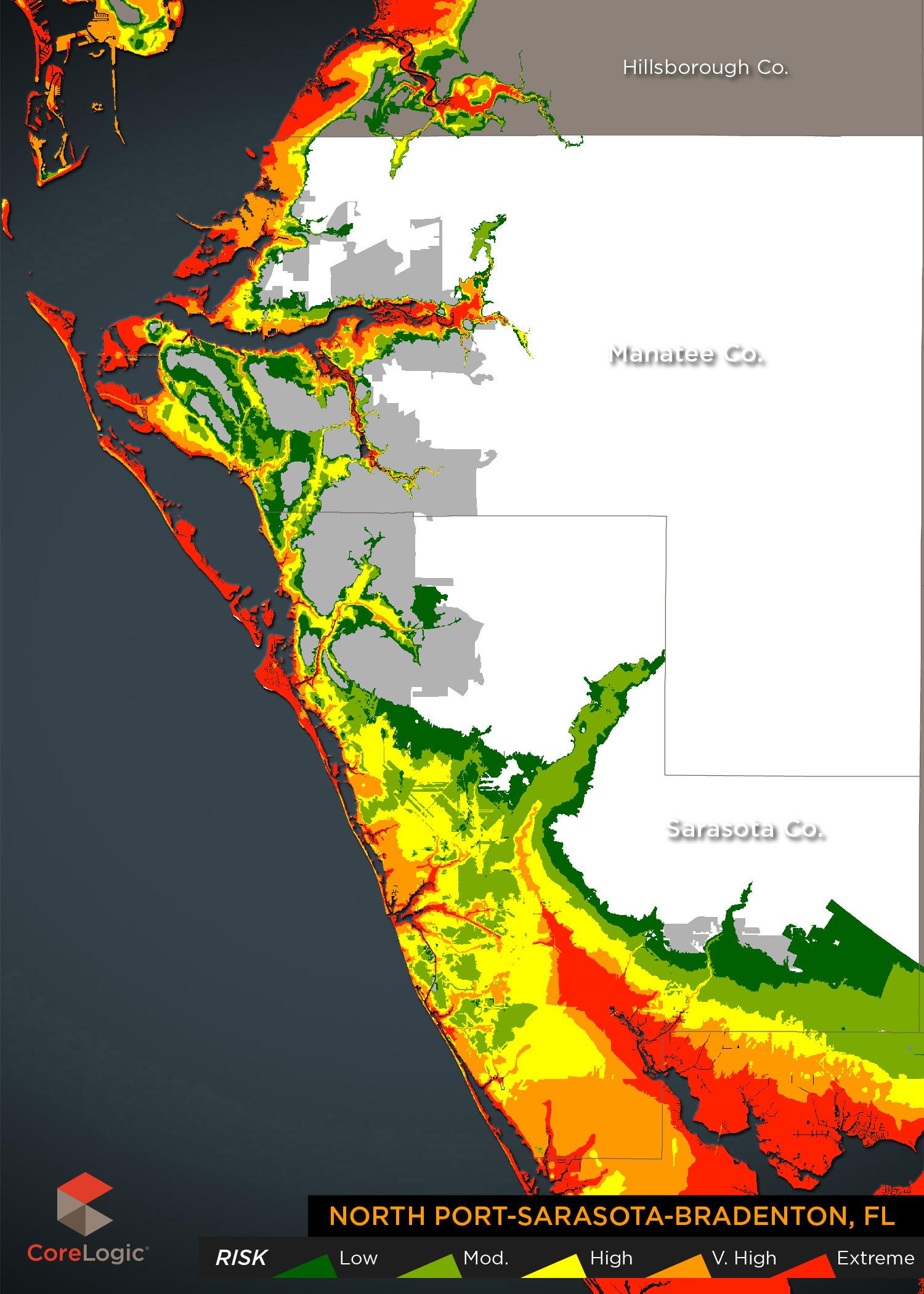 Storm Surge Maps - Florida map north port